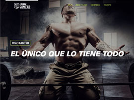 Sitio web High center realizado por Woorx